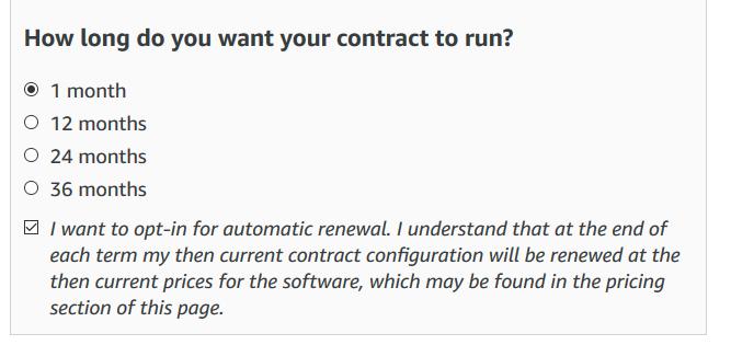Contrat Saas Guide De L Utilisateur Aws Marketplace