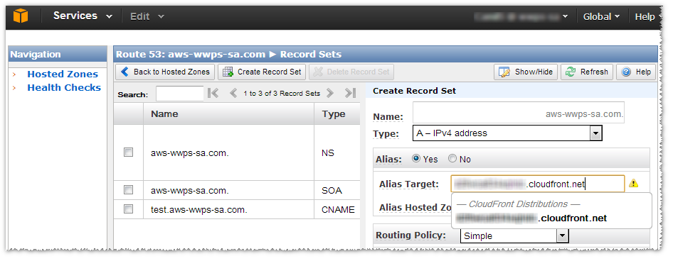 Step 4: Configure a New Route 53 Alias Resource Record Set