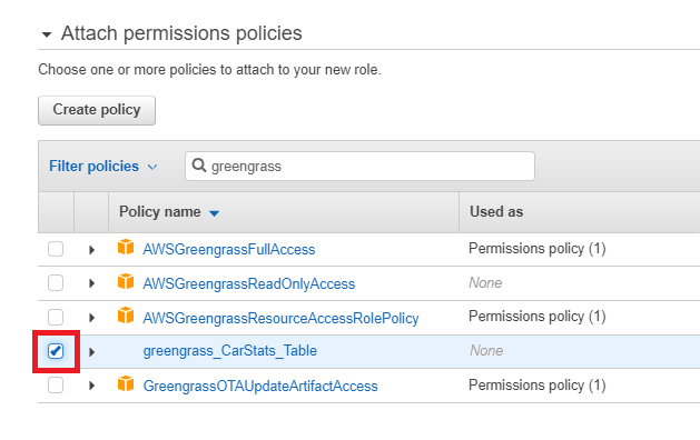 Configure the Group Role - AWS IoT Greengrass