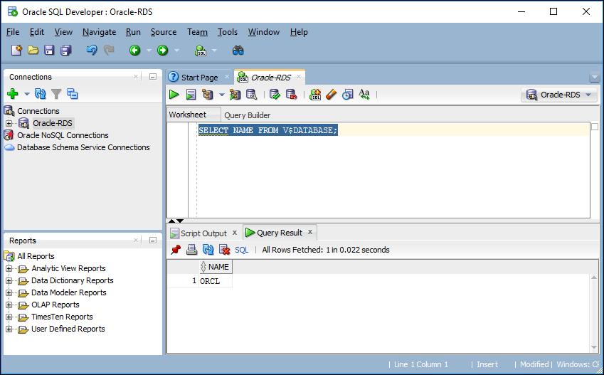 oracle データベースエンジンを実行している db インスタンスへの接続