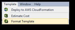 visual studio での aws cloudformation テンプレートのフォーマット