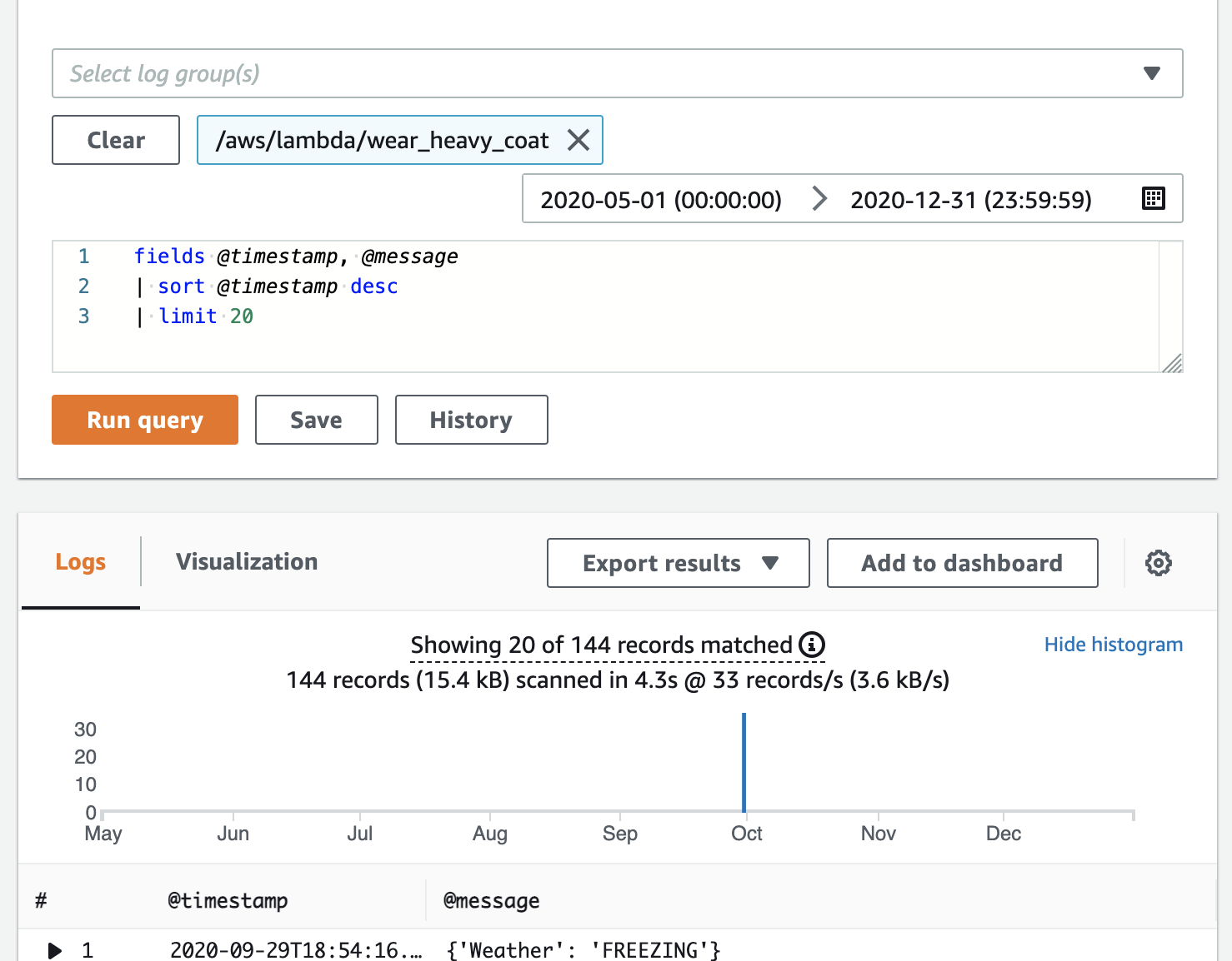Monitoring Functions in the AWS Lambda Console - AWS Lambda