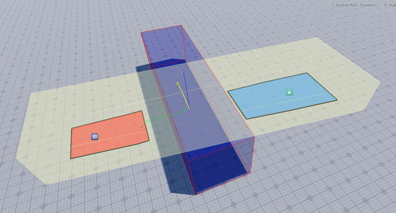 Navigation mesh area that AI agents can access.