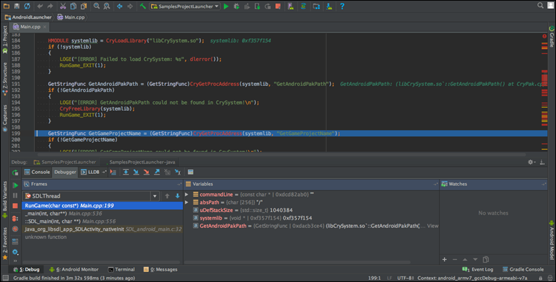 Building and Debugging Your Lumberyard Android Application