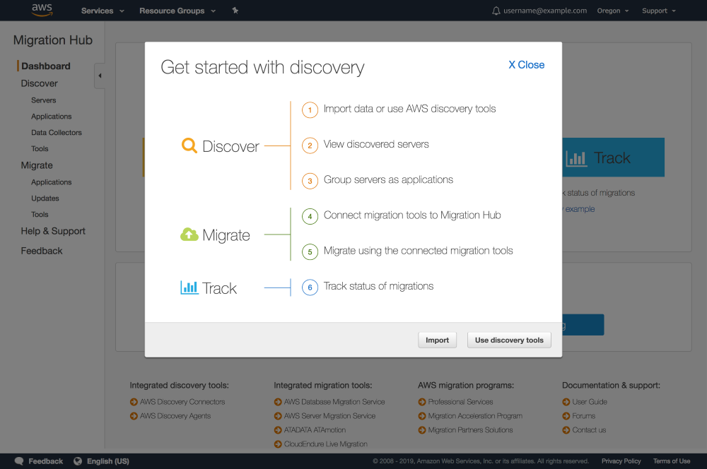 Perform Discovery and Then Migrate - AWS Migration Hub
