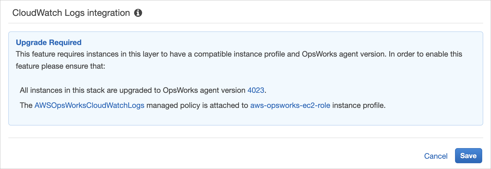 Using Amazon CloudWatch Logs with AWS OpsWorks Stacks - AWS