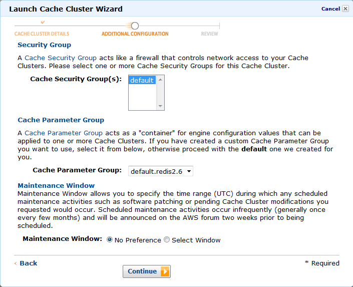 Step 1: Create an ElastiCache Redis Cluster - AWS OpsWorks