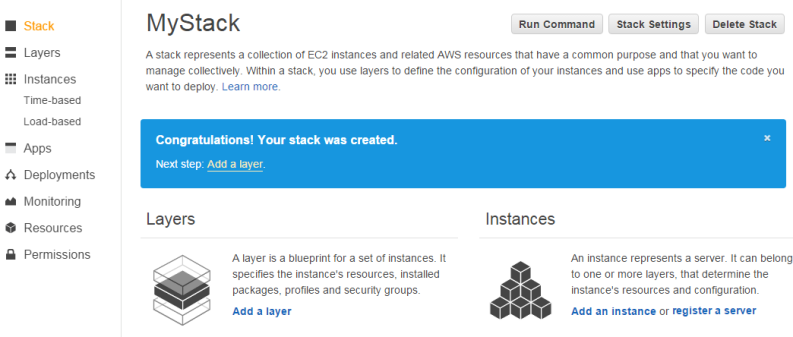 Step 22 add a php app server layer chef 11 aws opsworks after you finish creating the stack aws opsworks stacks displays the stack page click add a layer to add your first layer malvernweather Image collections