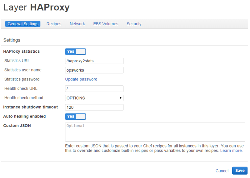 HAProxy AWS OpsWorks Stacks Layer - AWS OpsWorks