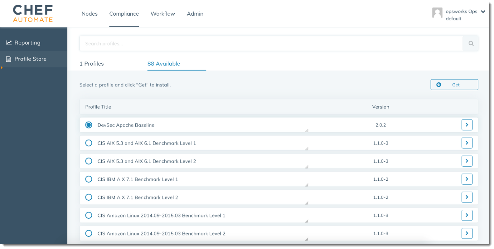 Compliance Scans in AWS OpsWorks for Chef Automate - AWS