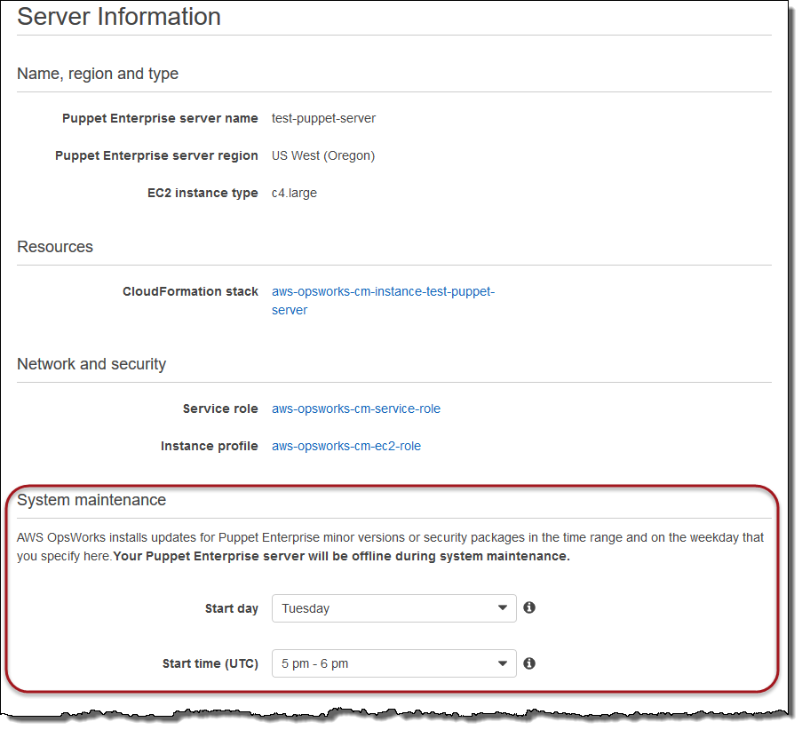 System Maintenance in OpsWorks for Puppet Enterprise - AWS OpsWorks