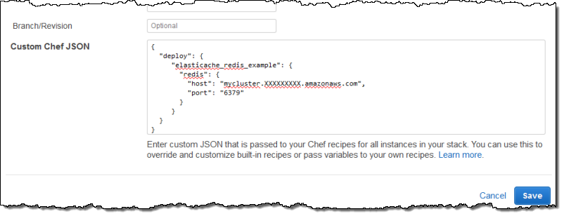 Step 5: Add Access Information to the Stack Configuration