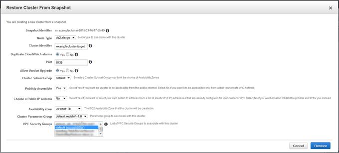 Gerenciamento de snapshots usando o console - Amazon Redshift
