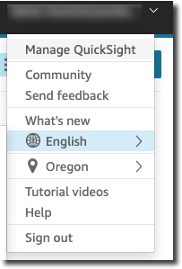 Choosing a Language in Amazon QuickSight - Amazon QuickSight