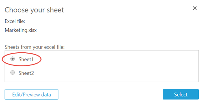 Creating a Data Set Using a Microsoft Excel File - Amazon QuickSight