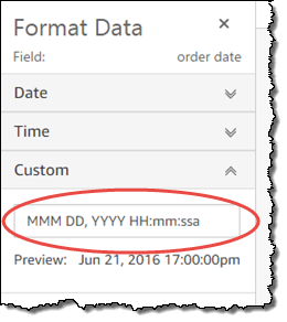 Format a Date Field - Amazon QuickSight