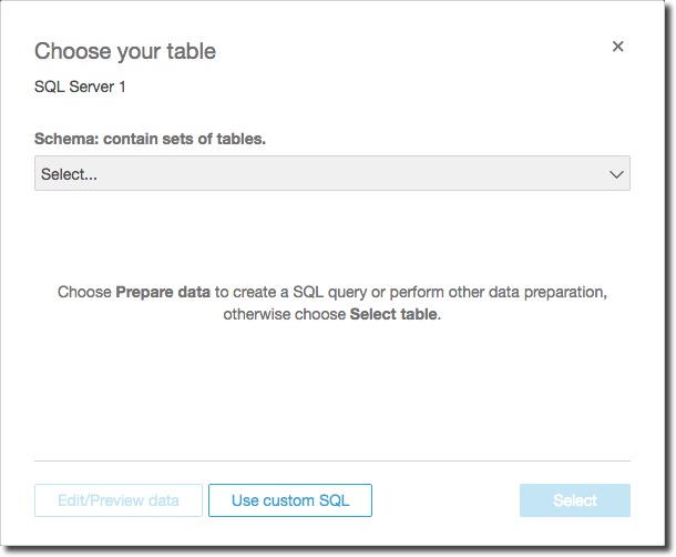 Using a SQL Query - Amazon QuickSight