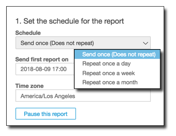 Sending Reports By Email Amazon Quicksight