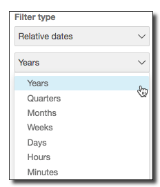 Adding a Date Filter - Amazon QuickSight