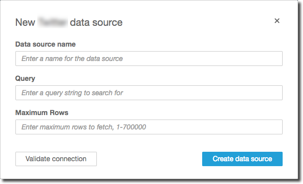 Creating a Data Source and Data Set from SaaS Sources