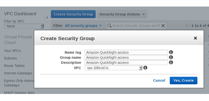 Authorizing Connections from Amazon QuickSight to Amazon