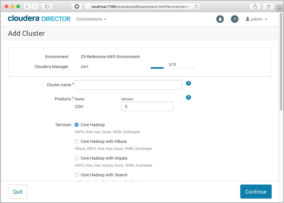 Step 4  Deploy the EDH Cluster - Cloudera EDH on AWS