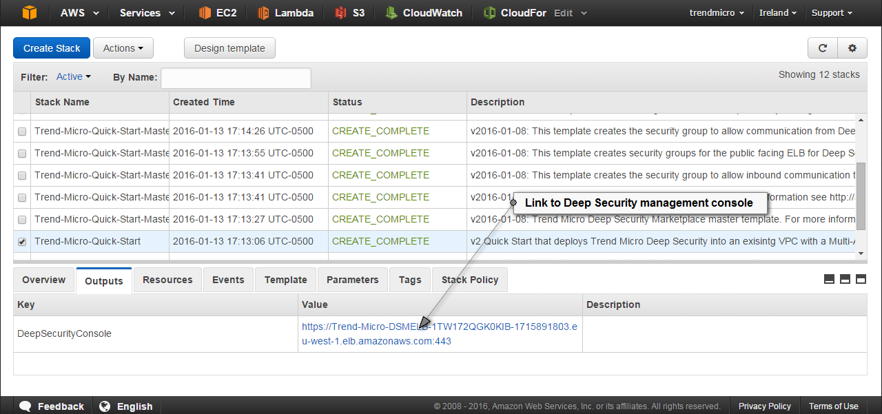Step 4  Log in to the Deep Security Manager Console - Trend