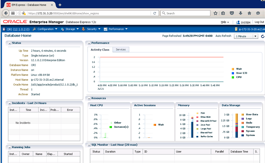 Step 4. Access Your Oracle Database Instance - Oracle