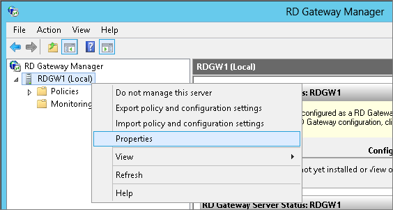 Appendix B: Setting up RD Gateway Manually on AWS - RD Gateway on AWS