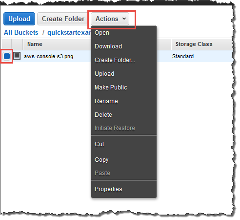 Step 3: Retrieve a File from Your Amazon S3 Bucket - AWS Quick Start