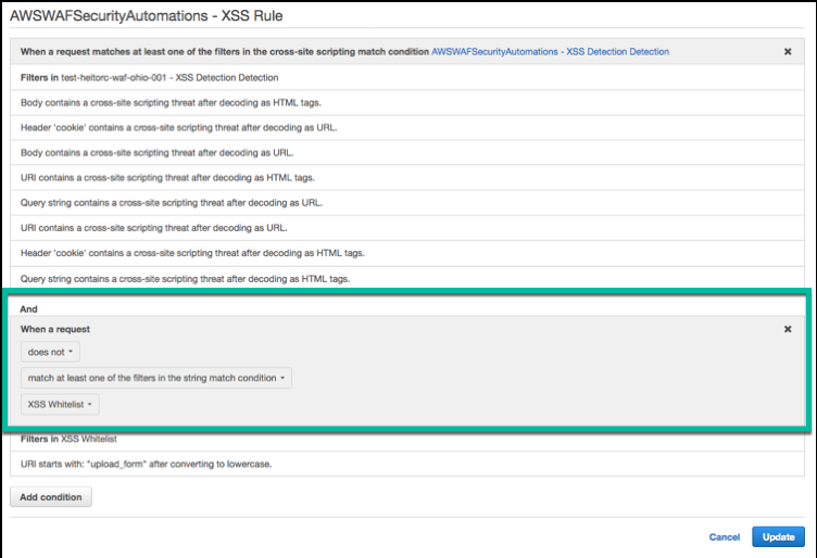 Deployment Considerations - AWS WAF Security Automations