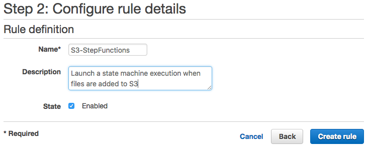 Starting a State Machine Execution in Response to Amazon S3 Events