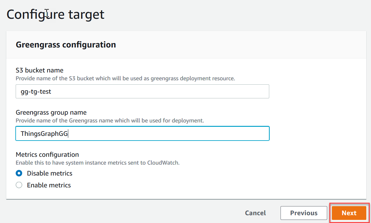 Creating a Flow in an AWS IoT Greengrass Group with Devices