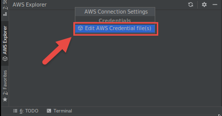 Setting AWS Credentials for the AWS Toolkit for JetBrains - AWS