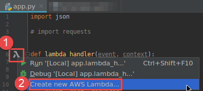 Creating an AWS Lambda Function by Using the AWS Toolkit for