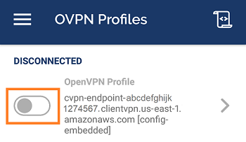 Android and iOS - AWS Client VPN