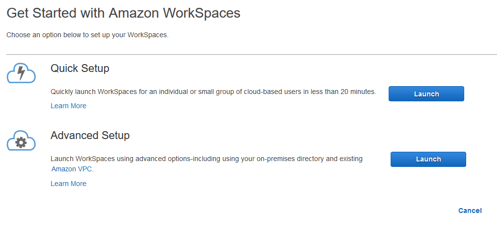 Get Started with Amazon WorkSpaces Quick Setup - Amazon WorkSpaces
